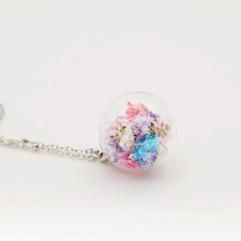 「OMYWAY」Dried Flower Necklace - Glass Globe Necklace