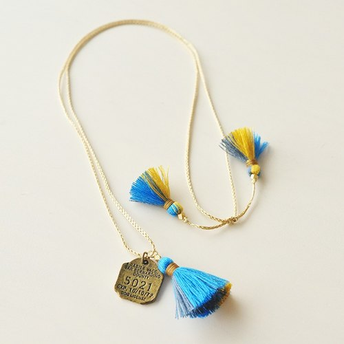 Necklace / 3way tassel necklace