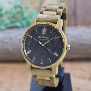EINBAND Reise Teak & Gold 40mm Wooden Watch