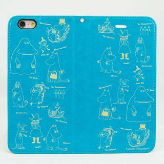 "Moomin Moomin genuine authority - Magnetic phone holster: [describe Moomin (blue-green)] ""iPhone / Samsung / HTC / ASUS / Sony"""