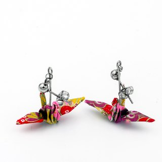 Wind cranes earrings (Apricot) - Valentine's Day gift