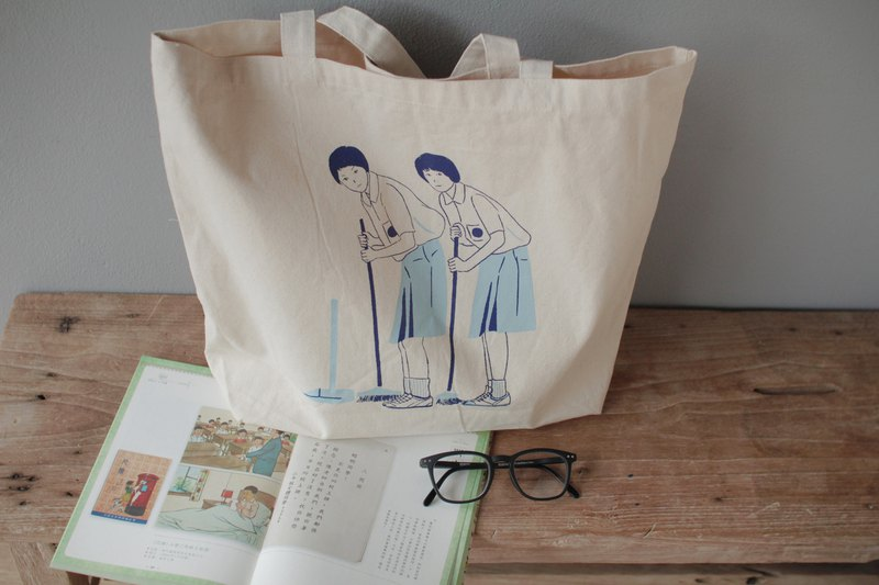 藍色大門 (Blue Gate Crossing) Canvas Tote Bag
