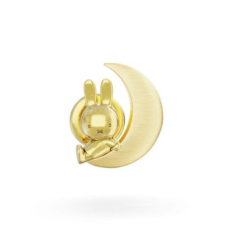 MIffy 米飛兒和月亮18K金胸針