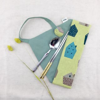 Cottage - Green Cutlery Bag