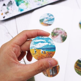 Mstandforc The Tiny Landscape - United Kingdom Stickers  (7 pcs)