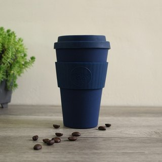 [natural bamboo fiber] environmental protection cup 14oz deep sea blue