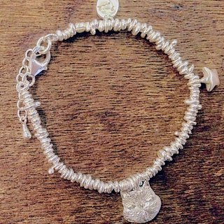 emmaAparty sterling silver bracelet '' grandson cat