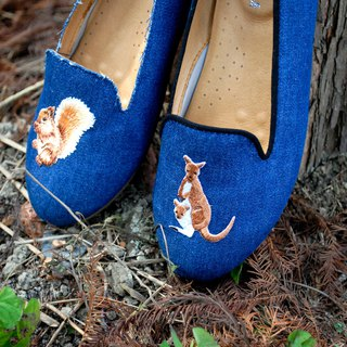 Selected embroidery handmade shoes embroidered custom leather bag shoes lady shoes lazy shoes B91902 embroidery