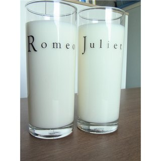 Romeo and Juliet Glass Set of 2 by Human Touch