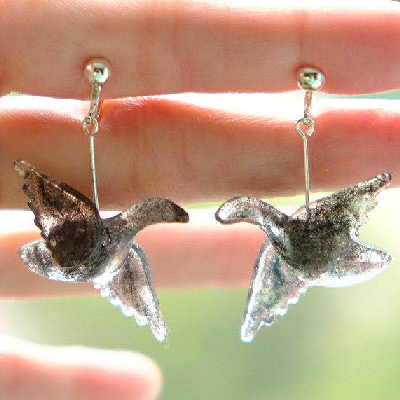 【人知れず】Secret Bird Ear Rings by ETPLANT