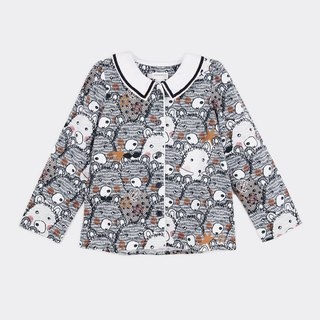 Bear space collar shirt