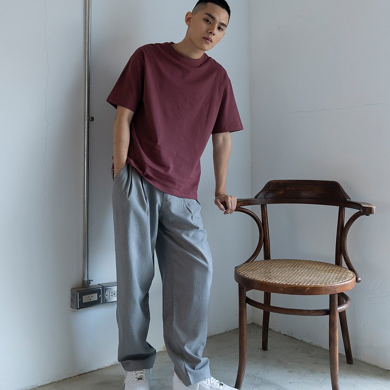 hao Burgundy Essential Tee 勃根地酒紅短T