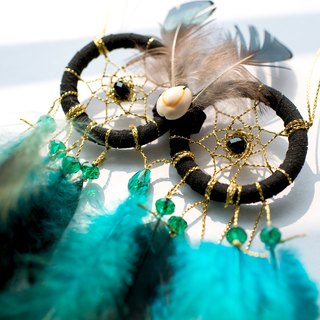 Dreamcatcher Material Pack Owl Style (Black Gold Edition) - Handmade DIY