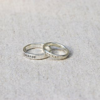 Kawagoe custom 925 sterling silver letter ring (one)