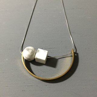 Marble Concrete x Brass Collection - Sterling silver necklace (MCB-004)