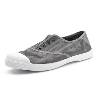 Spanish handmade canvas shoes / 102E four-hole classic / female models / gray