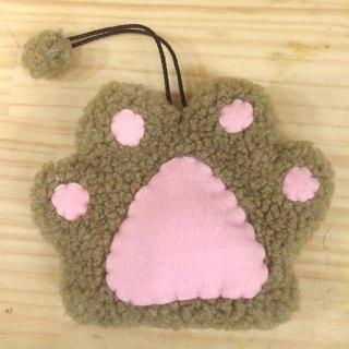 RABBIT LULU cat palm key bag hand-made cat slave special cat - milk tea color