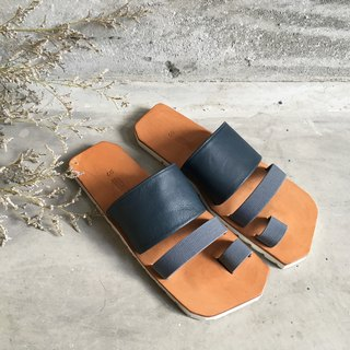 CLAVESTEP ||| Sandals - Leather Sandals - THREE - Deep Blue