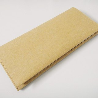 (long clip) photo layer 8 card 2 photo wallet pure texture simple large capacity washed kraft paper