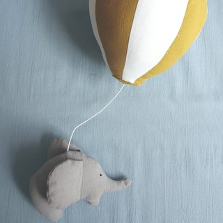 Elephant hot air balloon hand made material pack