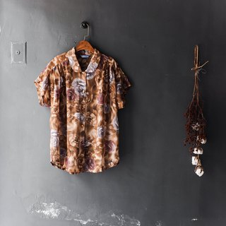 Heshui Mountain - Hyogo tea brown matte rose silk yarn discount love time antique silk spinning shirt shirt shirt oversize vintage