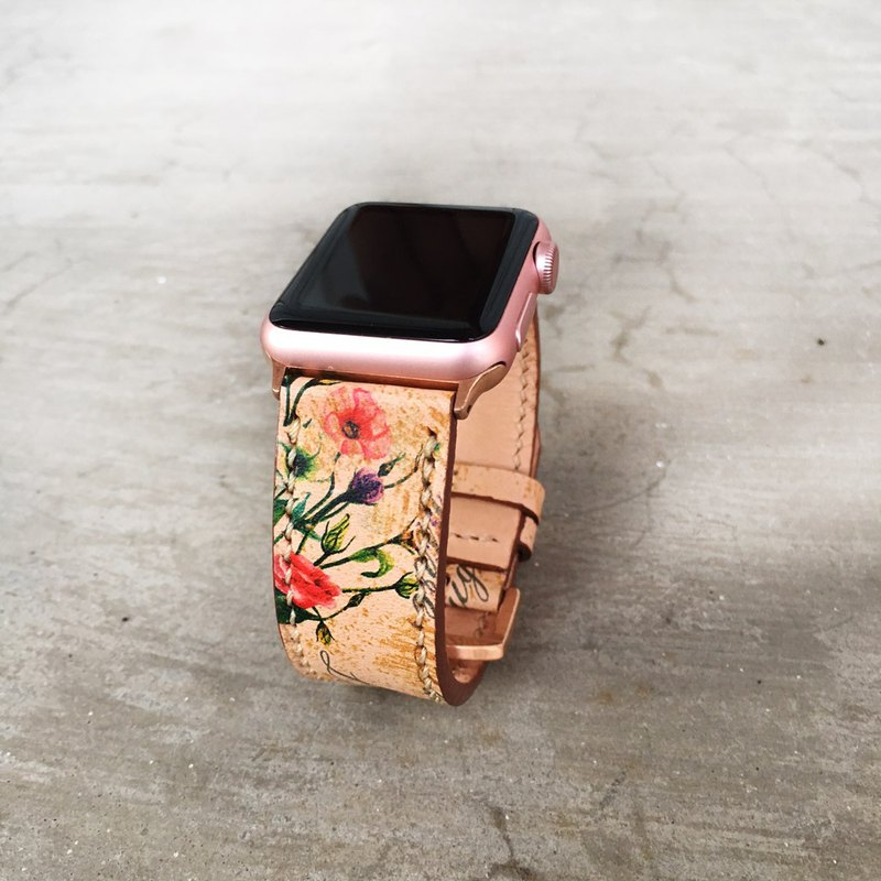 Apple Watch Band 38mm 42mm, HandStitched Handmade, Series 3