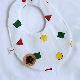 Little New Pajama - White - Eight Layers 100% Cotton Double Sided Egg Bib