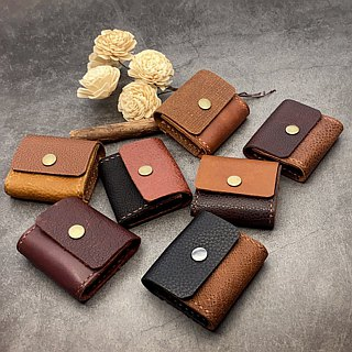 [U6.JP6 handmade leather] - pure natural handmade imported leather hand-stitched leather purse for / Universal package (both men and women).
