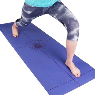 Fun Sport yoga Happy island efficient PU leather mind mats (auxiliary line / plain money two choose one)