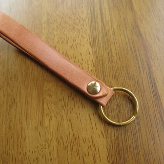 Multi-quality. Fatty key ring poly-dairy vegetable tanned leather [Jane One Piece]