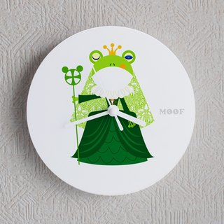 Muff Wall clock Illustration Wall clock Humorous simple Frog Queen Queen