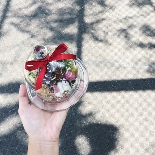 【Nice Flower】 Christmas Pine Cone Glass Flower Elk Christmas Gift Dry Flower Ceremony Exchange Gift Opening