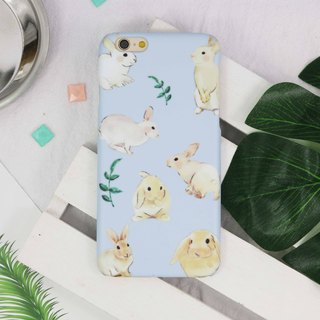 Watercolor bunny hare rabbit cony Pattern phone case iphone X 8 7 Galaxy S9 HTC
