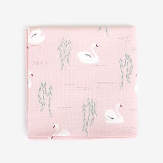Dailylike Nordic wind cotton handkerchief 41 Swan Lake, E2D03046