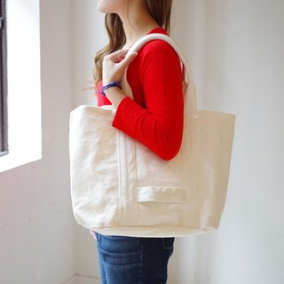 Kurashiki canvas tote bag - Pure white