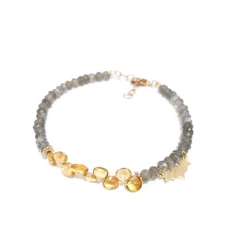 Little Cutie Labradorite with Citrine Bracelet