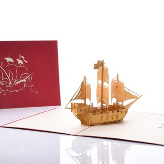 3D handmade creative universal smooth sailing card series