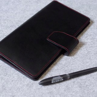 YOURS handmade leather case beveled magnetic checkerboard (can put 2) personality black leather