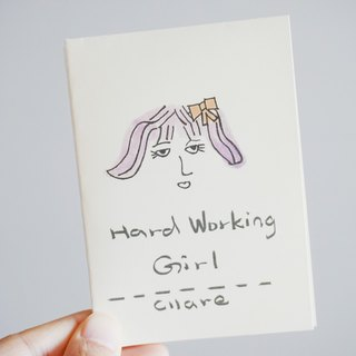 Cllare 2017 迷你zine-小豆本-努力的女孩-hard working girl