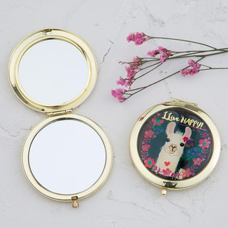 Portable mirror - Llive Happy Llama Alpaca | MIR011