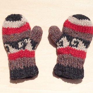 Limited Christmas gift a knitted pure wool warm gloves / gloves for children / child gloves / bristles gloves / knitted gloves / mittens - Eastern European wind wave stripes