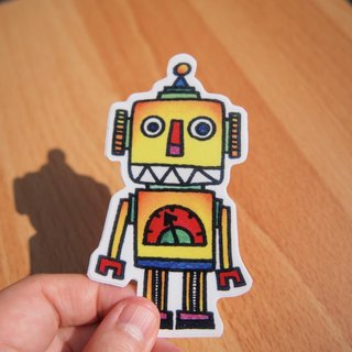 Waterproof stickers - robot