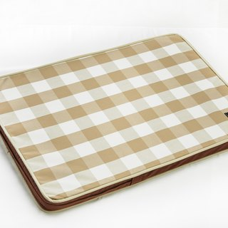 Lifeapp Sleeping Pad Replacement Cloth---M_W80 x D55 x H5 cm (Brown White) does not contain sleeping mats