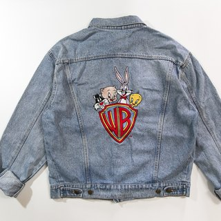 [3thclub Ming Hui Tong] the original denim jacket Warner cartoon bunny Looney Tunes CTJ-005 vintage