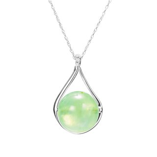 14k Peridot Necklace, August Birthstone Jewelry, Olive Green Gemstone Pendant