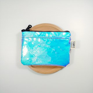 [Bright and bright] Coin purse clutch bag with zipper bag