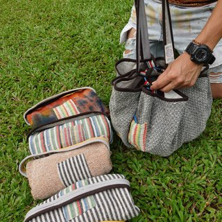 "Original Eco-Brand : ""EARTH.er "" Natural Hemp : ""SOULMATE"" Picnic Carrying Bag"