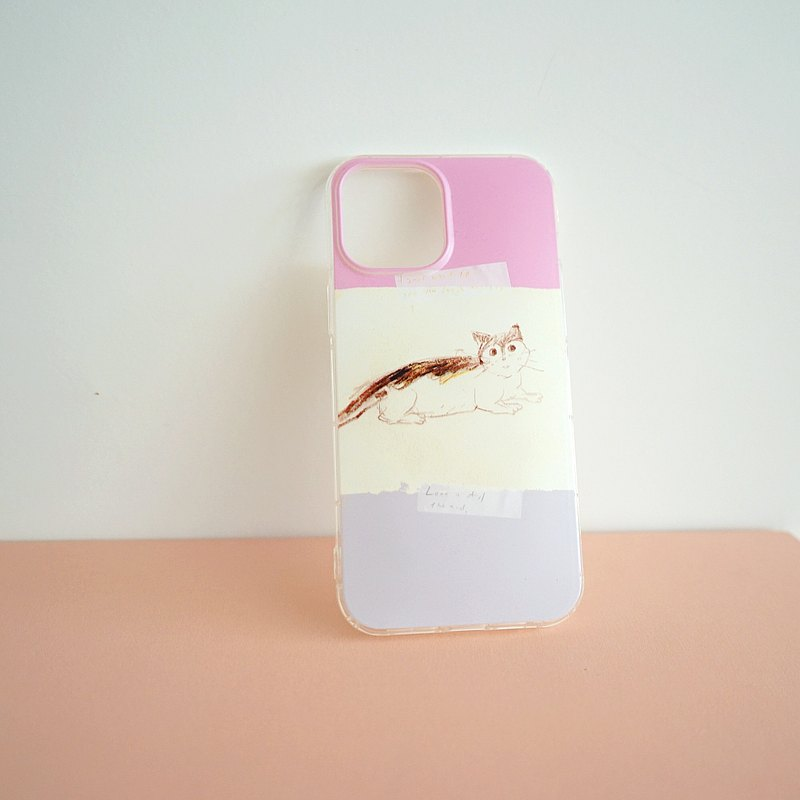 Street cat diary mobile phone shell always loves you my kitten pink ash iphone full range of various models custom