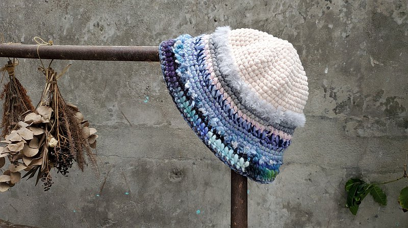 手編毛帽-混線系列 / 雲海