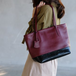 Harbour Tote Bag - ฺDark Red
